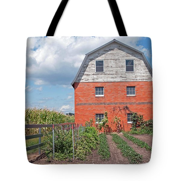 Amish Barn And Garden Tote Bag by David Arment