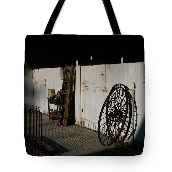 Amish Buggy Wheel Tote Bag