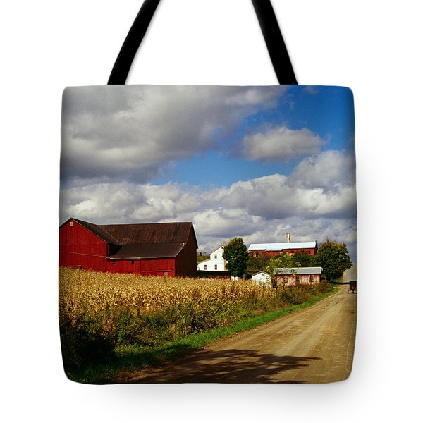 Amish Farm Buildings And Corn Field Tote Bag