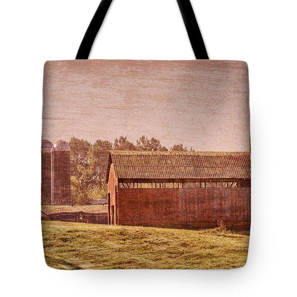 Amish Farm Tote Bag by Debra and Dave Vanderlaan
