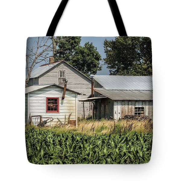 Amish Farm In Tennessee Tote Bag by Kathy Clark