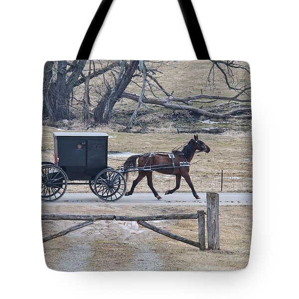 Amish Horse And Buggy March 2013 Tote Bag