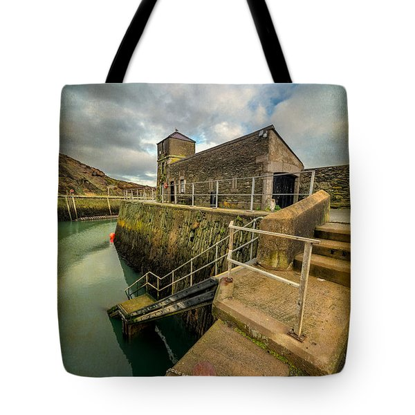 Amlwch Port Lighthouse V2 Tote Bag by Adrian Evans