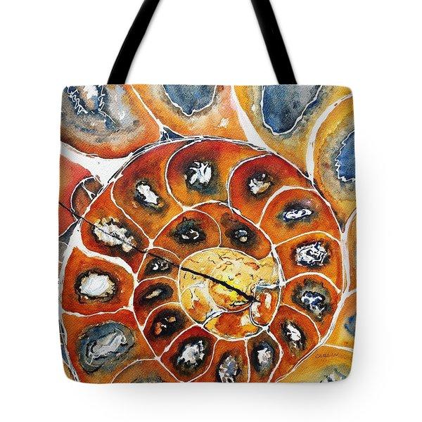 Ammonite Fossil Shell Tote Bag