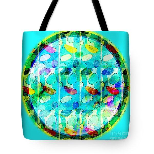 Amoeba Plate Tote Bag by Gabrielle Schertz