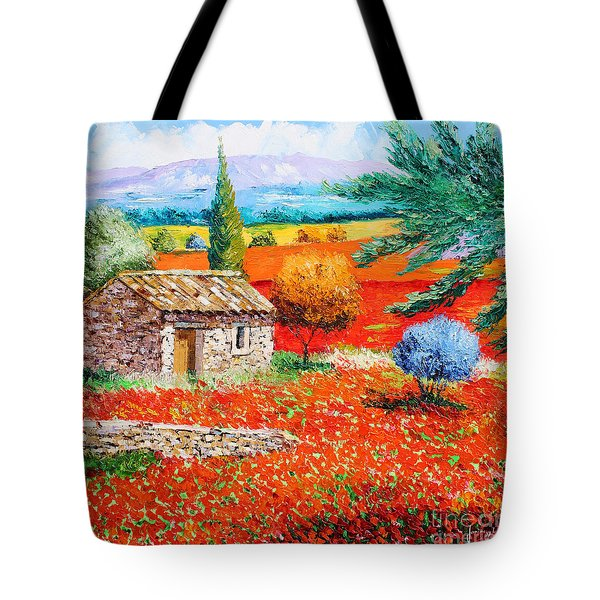 Among The Poppies Tote Bag by Jean-Marc Janiaczyk