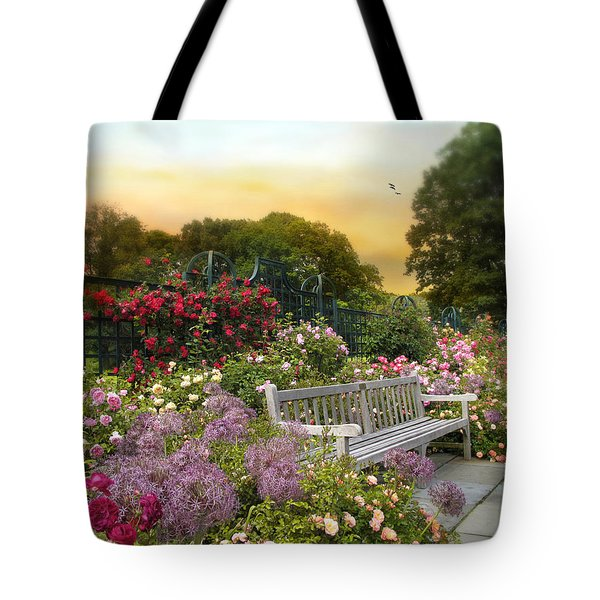 Among The Roses Tote Bag by Jessica Jenney