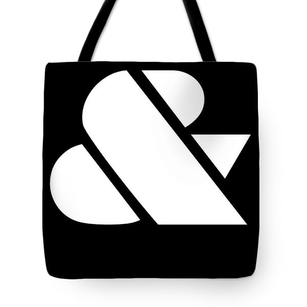 Ampersand Black And White Tote Bag