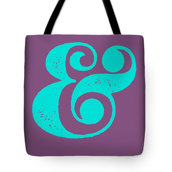 Ampersand Poster Purple And Blue Tote Bag