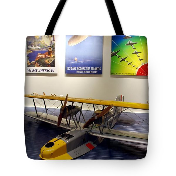 Amphibious Plane And Era Posters Tote Bag