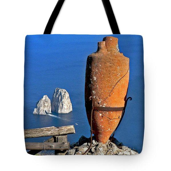 Amphora On The Island Of Capri 2 Tote Bag