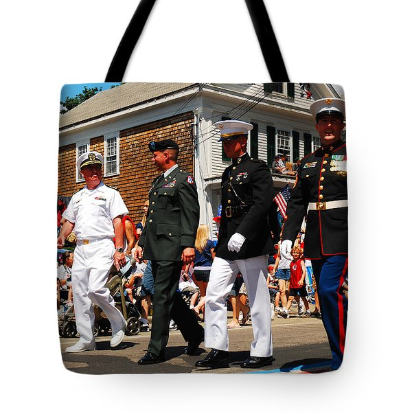 Amred Forces Salute Tote Bag by James Kirkikis