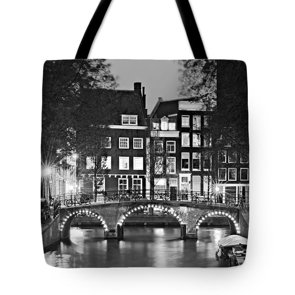 Amsterdam Bridge At Night / Amsterdam Tote Bag
