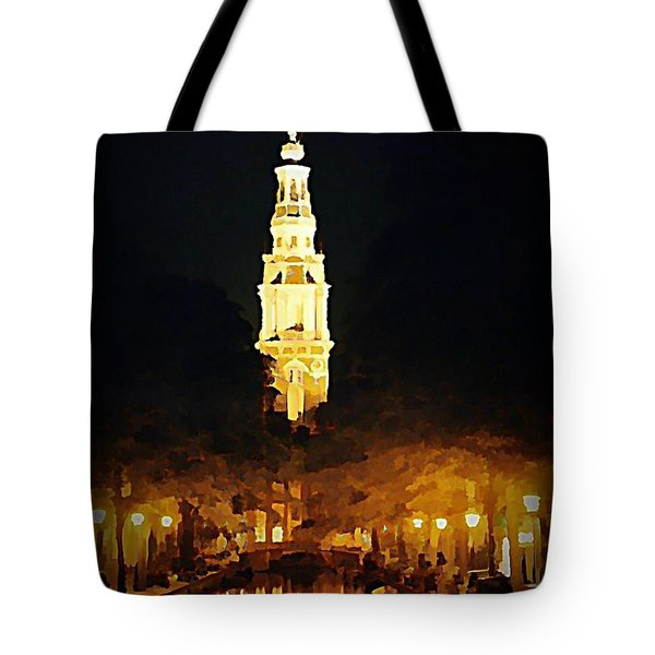 Amsterdam Church And Canal Tote Bag by John Malone
