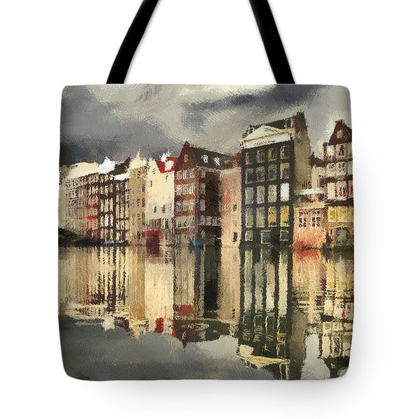 Amsterdam Cloudy Grey Day Tote Bag by Georgi Dimitrov