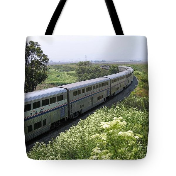 Tote Bag featuring the photograph Coast Starlight At Dolan Road by James B Toy