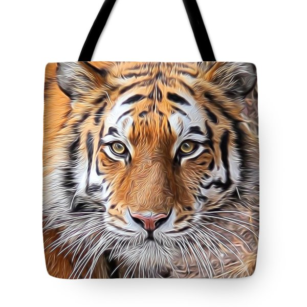Amur Tiger Portrait Tote Bag