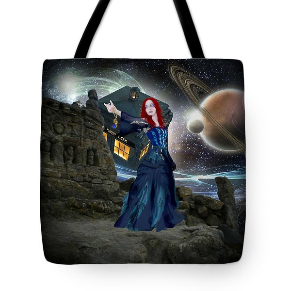 Amy And The Tardis Tote Bag