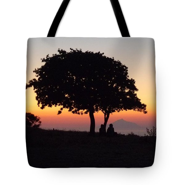 Tote Bag featuring the photograph An African Sunset by Vicki Spindler