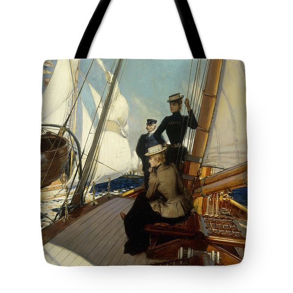 An Afternoon At Sea  Tote Bag by Albert Lynch