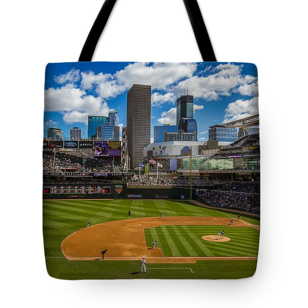 An Afternoon At Target Field Tote Bag