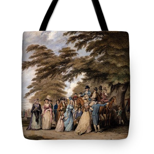 An Airing In Hyde Park, 1796 Tote Bag by Edward Days