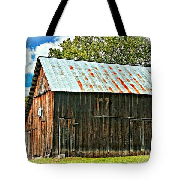 An American Barn 2 Oil Tote Bag by Steve Harrington