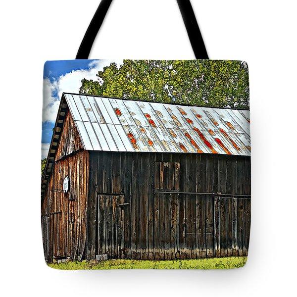 An American Barn 2 Painted Tote Bag by Steve Harrington