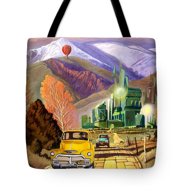 Tote Bag featuring the painting Trucks In Oz by Art James West