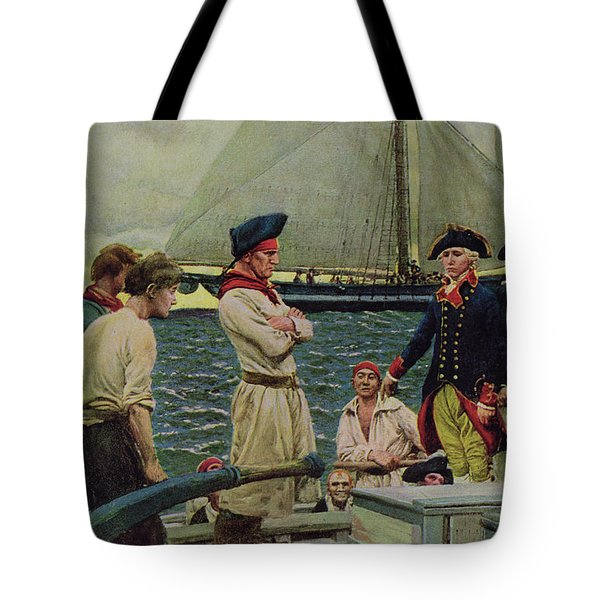 An American Privateer Taking A British Prize, Illustration From Pennsylvanias Defiance Tote Bag