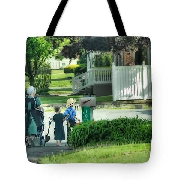 Little Amish Gardeners Tote Bag