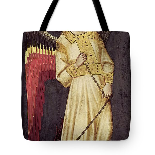An Angel With A Demon On A Chain Tote Bag