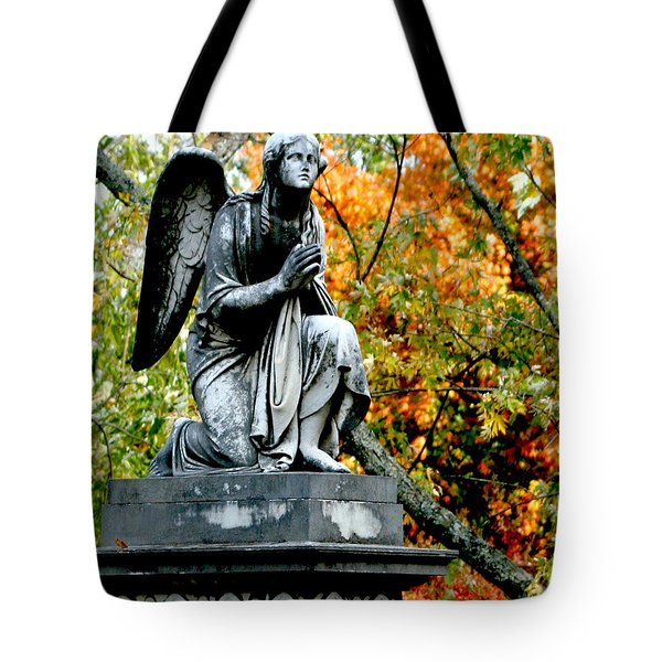 Tote Bag featuring the photograph An Angels' Prayer by Lesa Fine