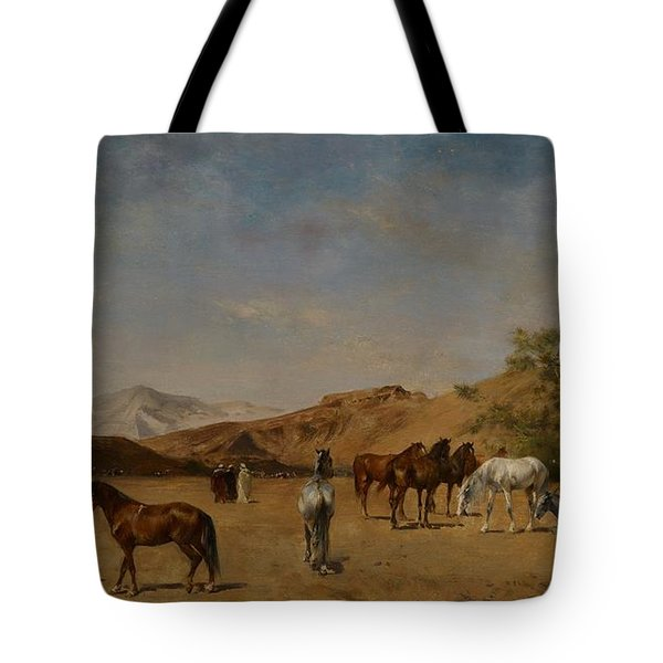 An Arabian Camp Tote Bag by Eugene Fromentin