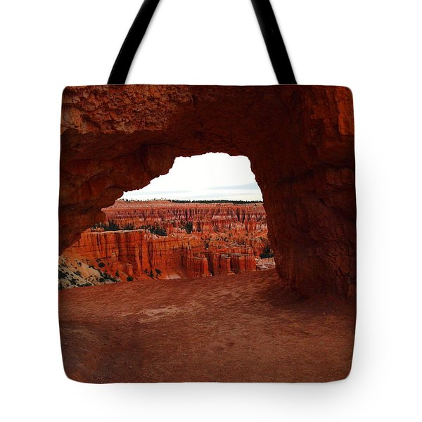 An Arch Foreground The Pillars Tote Bag by Jeff Swan