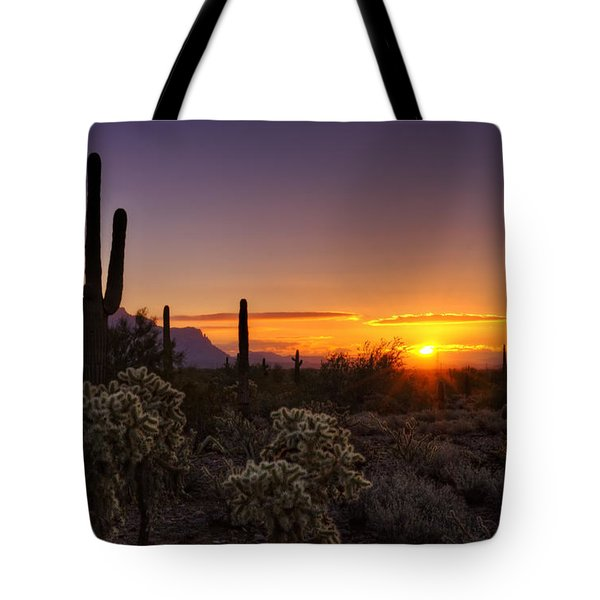 An Arizona Winter Sunrise Tote Bag