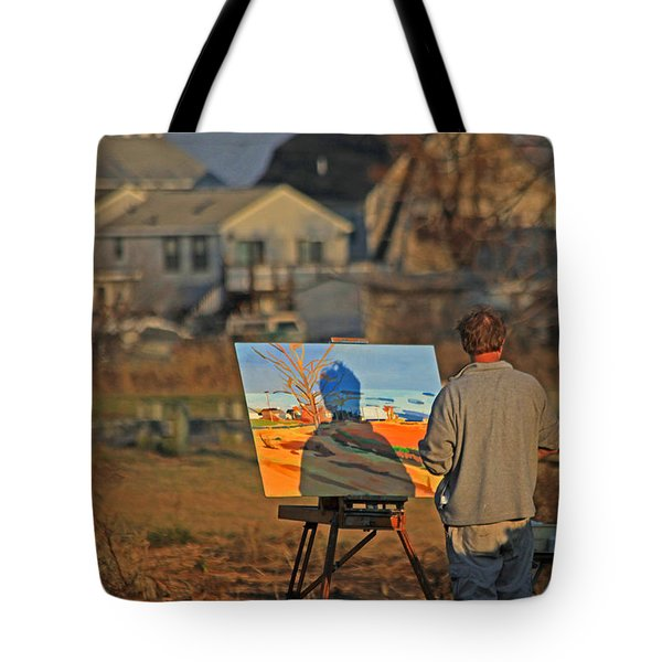 An Artist At Work Tote Bag by Karol Livote