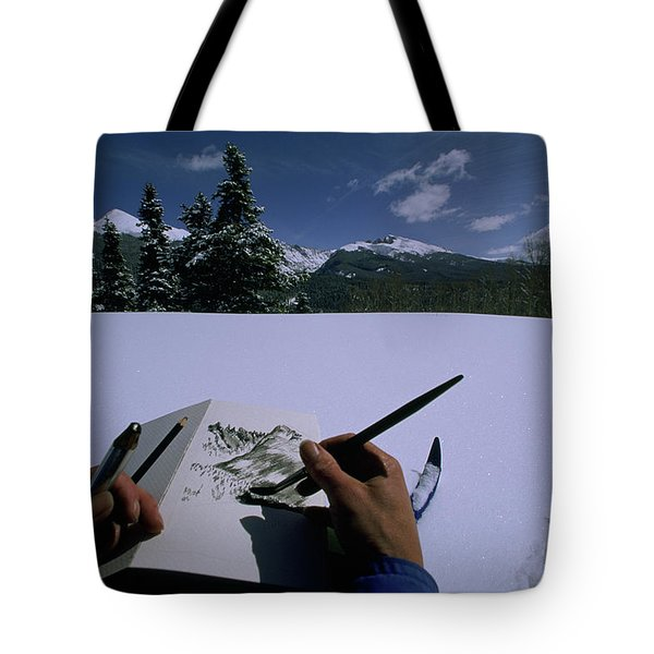An Artist Makes A Sketch Tote Bag