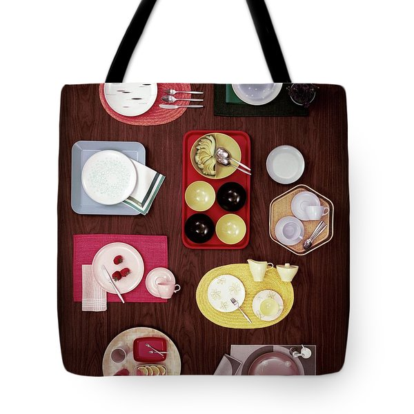 An Assortment Of Dinnerware Tote Bag