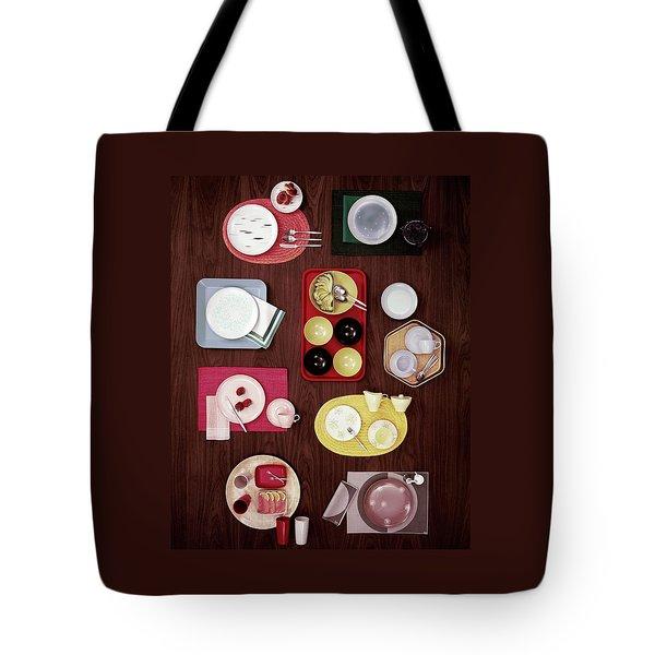 An Assortment Of Dinnerware Tote Bag