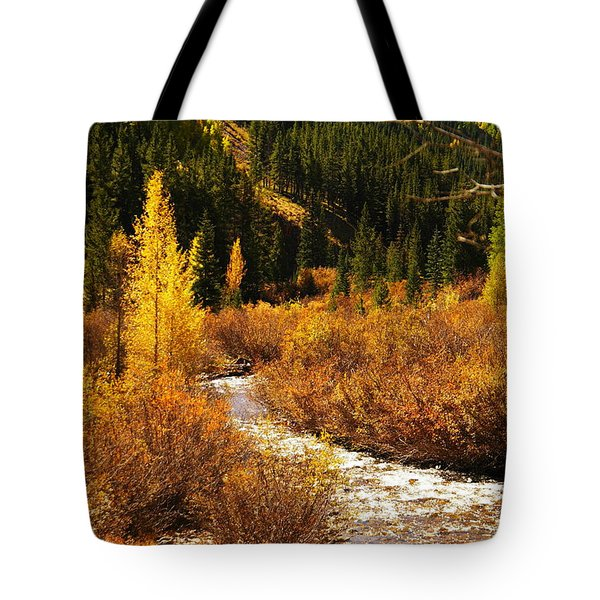 An Autum Stream In Colorado Tote Bag