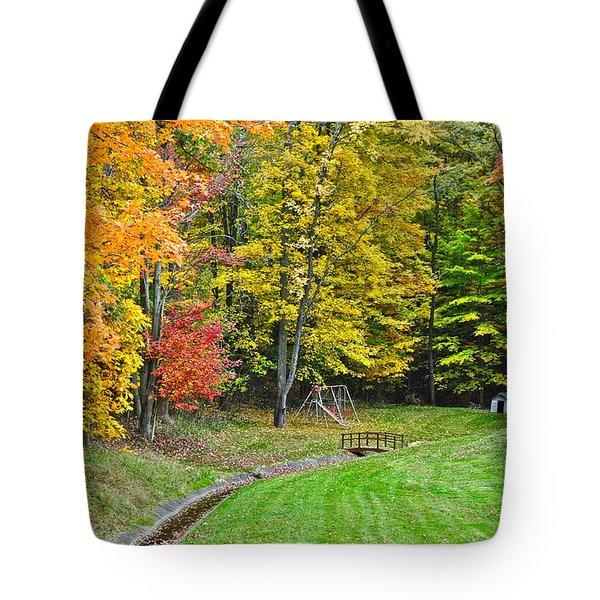 An Autumn Childhood Tote Bag by Frozen in Time Fine Art Photography