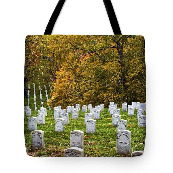 An Autumn Day In Arlington Tote Bag