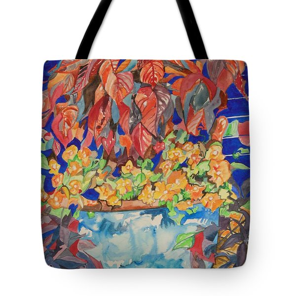 An Autumn Floral Tote Bag by Esther Newman-Cohen