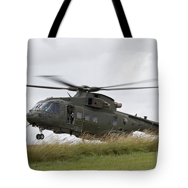 An Aw101 Merlin Helicopter Of The Royal Tote Bag by Ofer Zidon