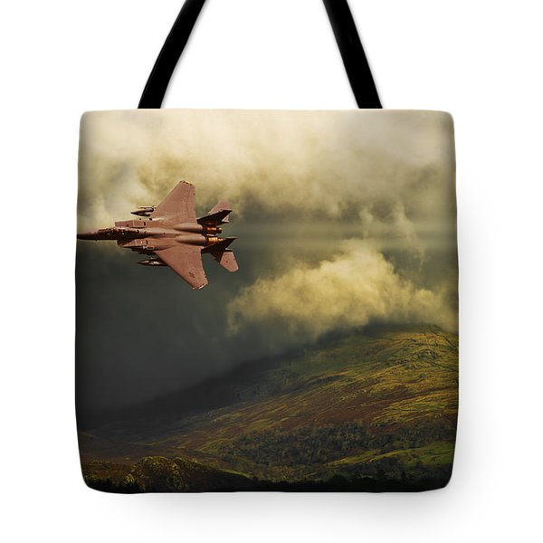 Tote Bag featuring the photograph An Eagle Over Cumbria by Meirion Matthias