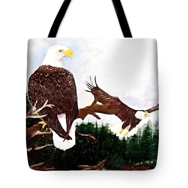 An Eagles View  Tote Bag