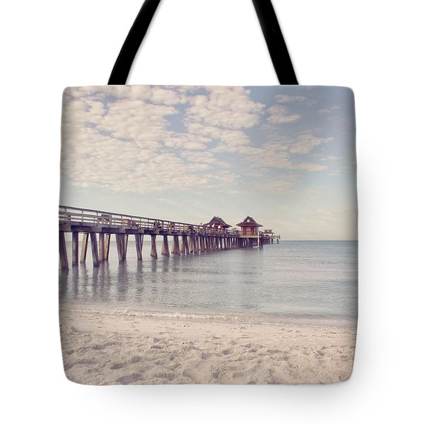 An Early Morning - Naples Pier Tote Bag