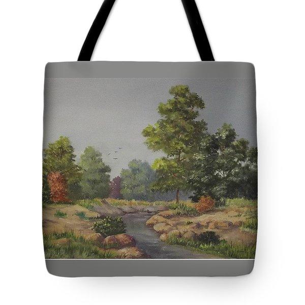 An East Texas Creek Tote Bag by Wanda Dansereau