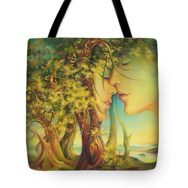 An Encounter At The Edge Of The Forest Tote Bag